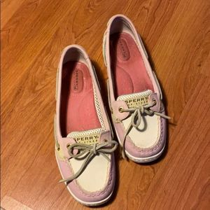 Pink Sperry Top Siders Size 8 GUC